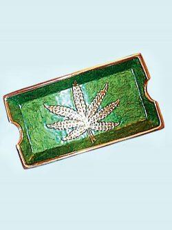 Ashtray Brass/Leaf