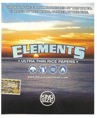 Elements Ultra Thin Rice Papers King Size