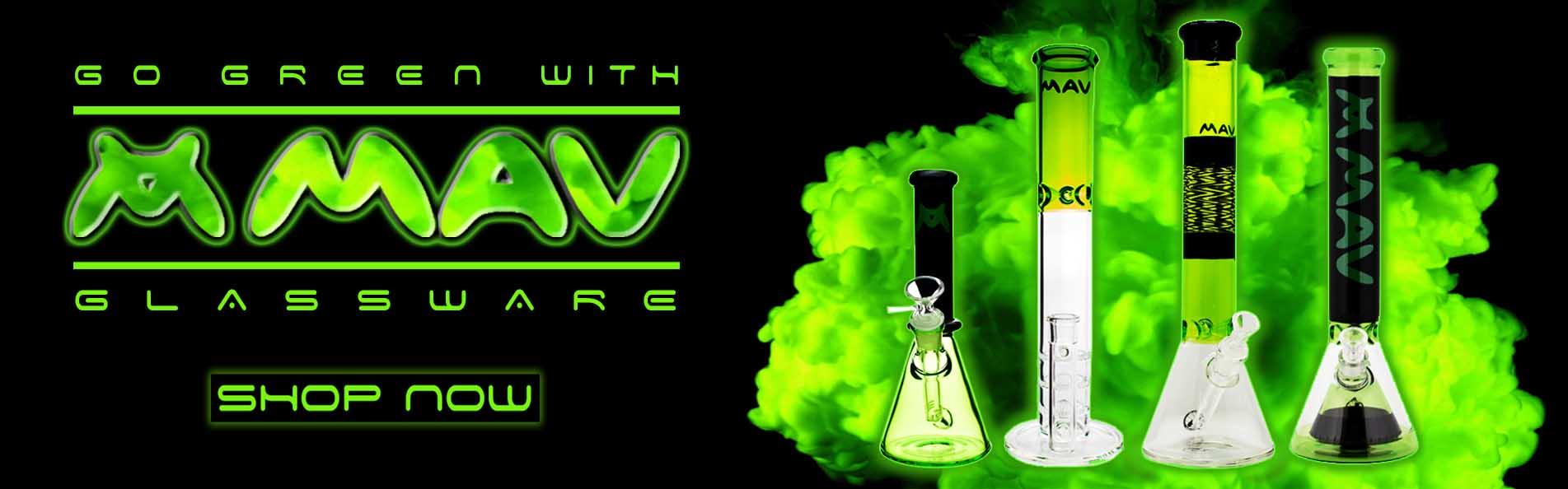 MAV Green Glassware Bongs